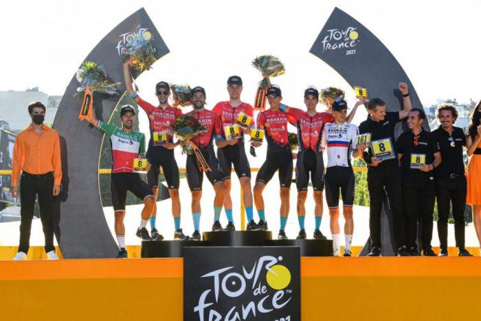 チームバーレーンヴィクトリアスはツール・ド・フランスでチーム総合賞を獲得